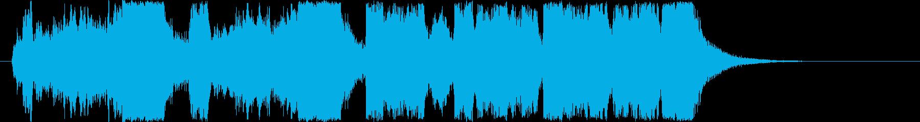 競馬風ファンファーレジングルの再生済みの波形