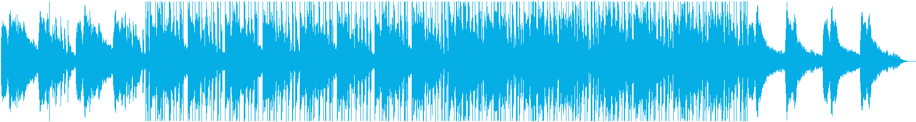 おしゃれなギターのヒップホップ風BGMの再生済みの波形