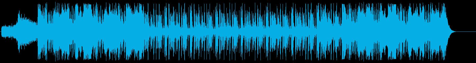 インパクトのある盛大なBGMの再生済みの波形
