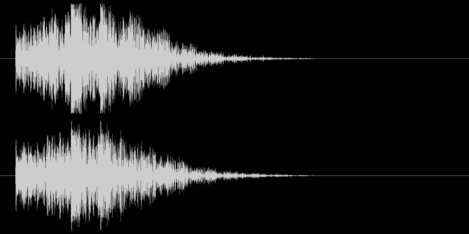 低音インパクト_タイトル表示の未再生の波形