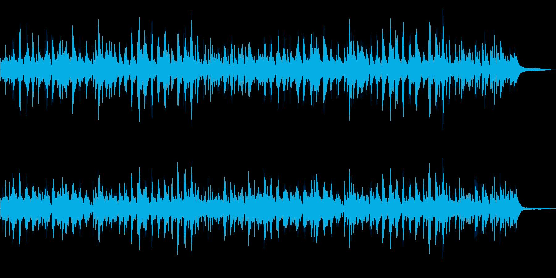 やさしい雰囲気のピアノ曲の再生済みの波形