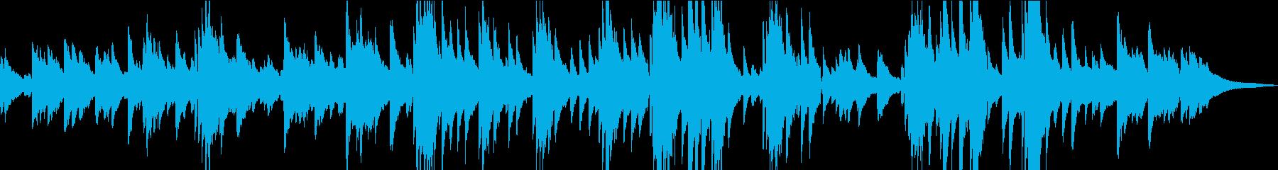 夜明けをイメージしたピアノ曲の再生済みの波形