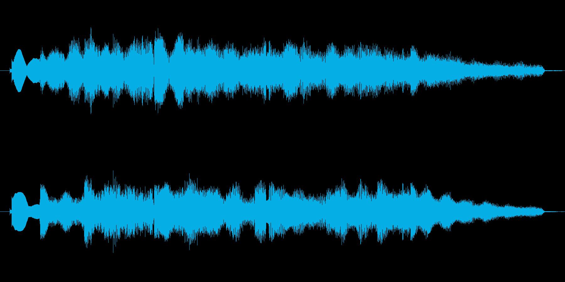 CMアイキャッチ等想定した短いBGMですの再生済みの波形