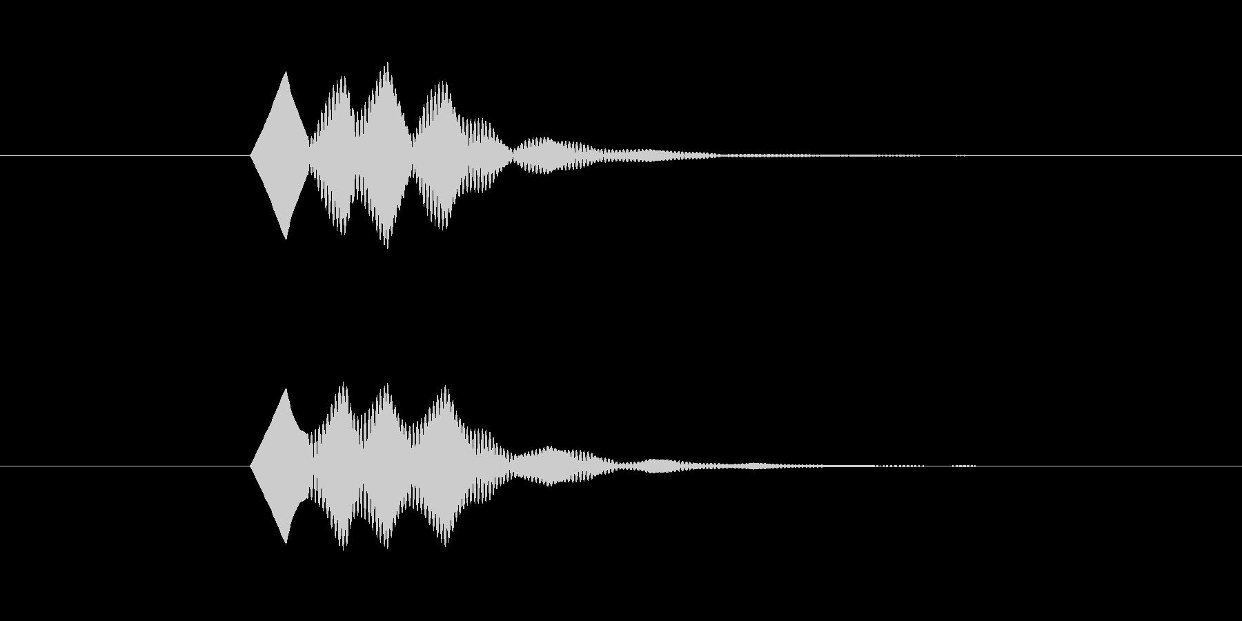 ソフトで無機質なボタン Cの未再生の波形