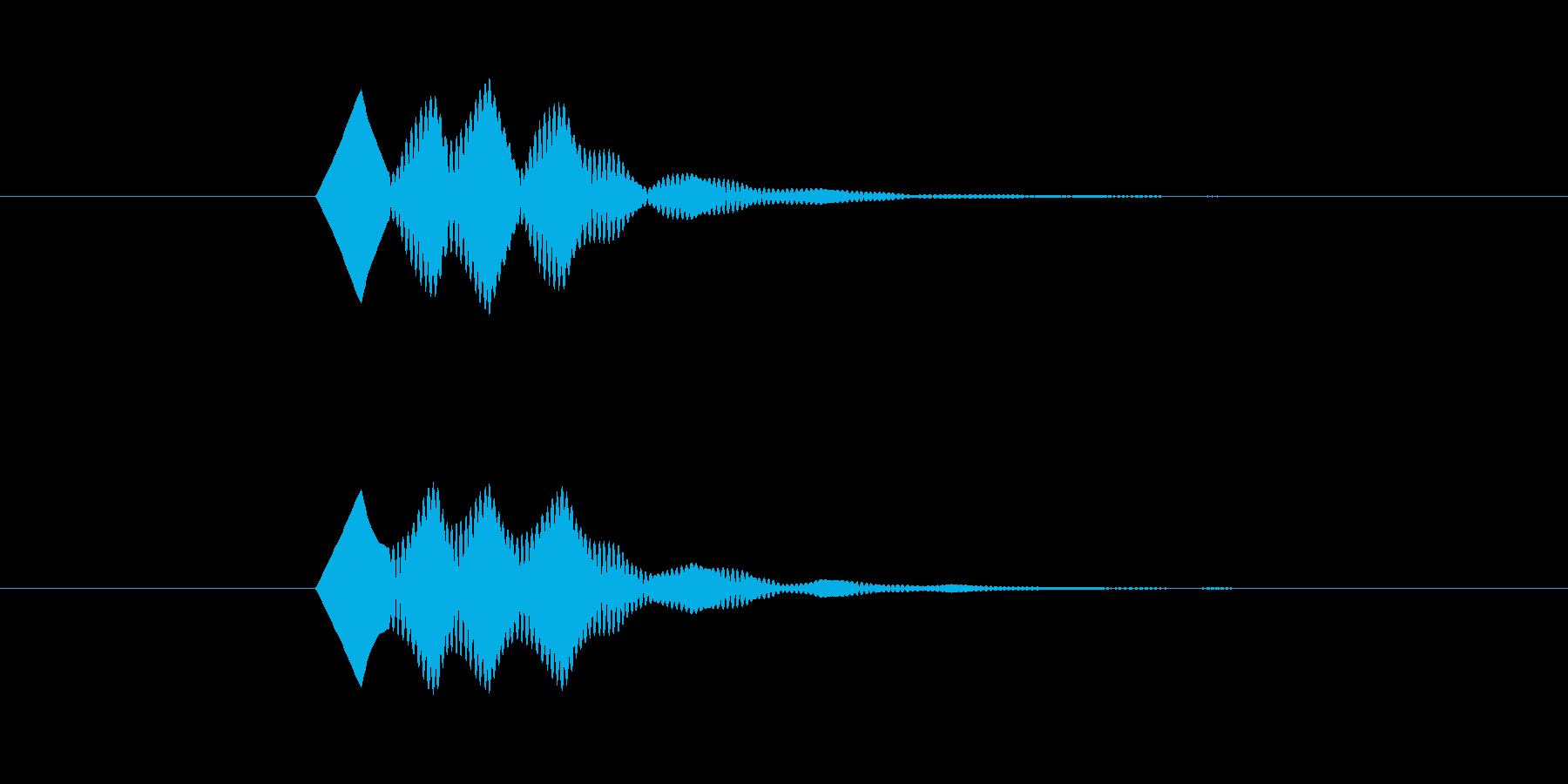 ソフトで無機質なボタン Cの再生済みの波形