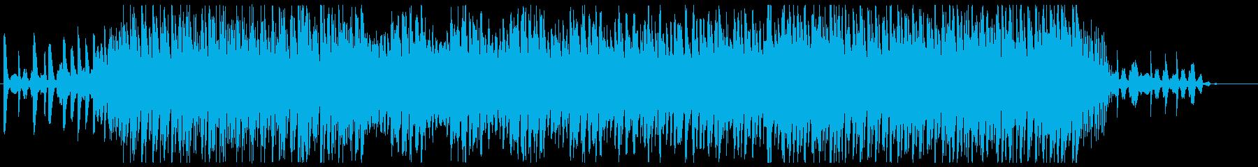 コンピュータや機械が並んだ研究所っぽい曲の再生済みの波形