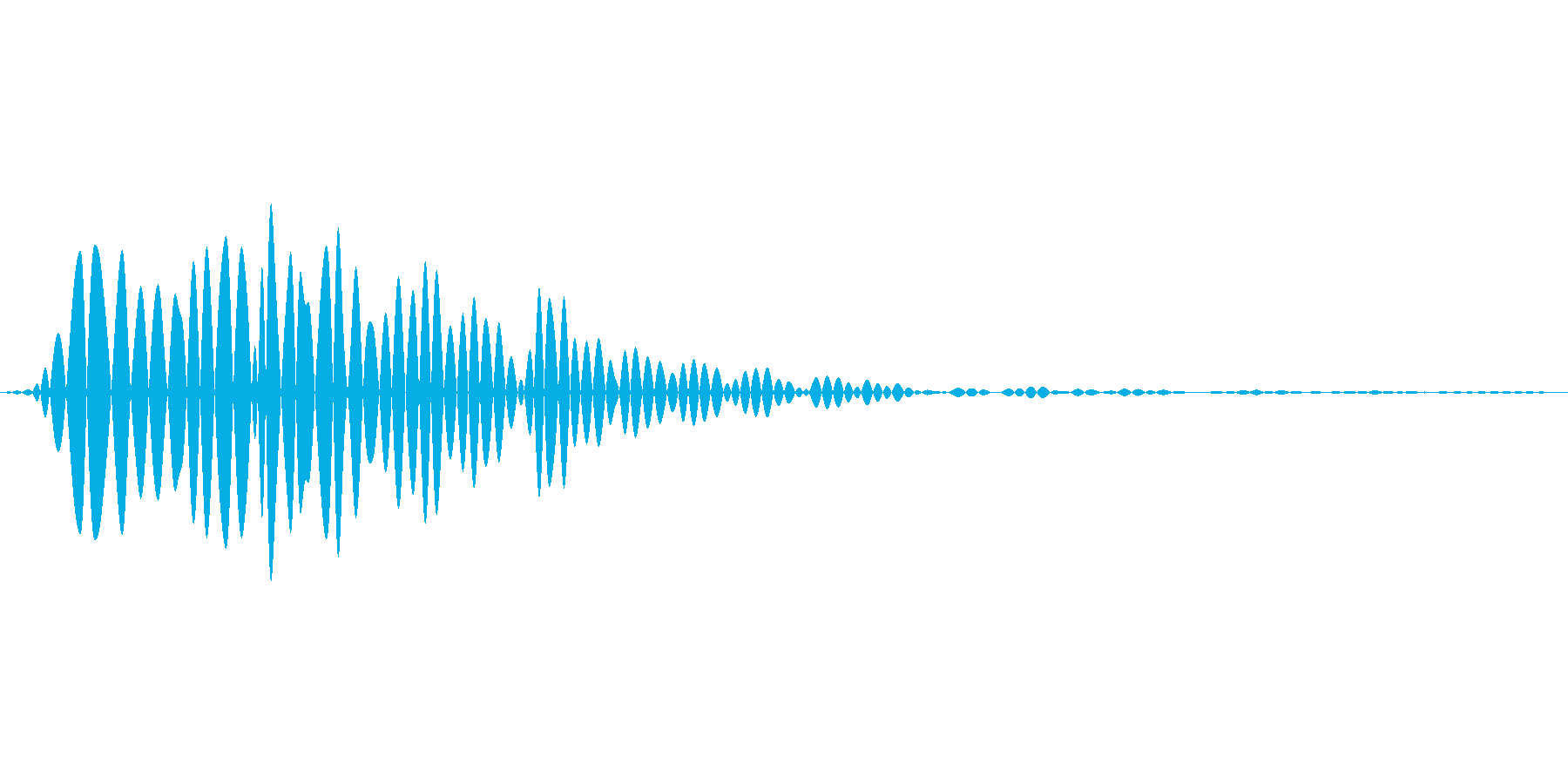 汎用的なタップ音の再生済みの波形