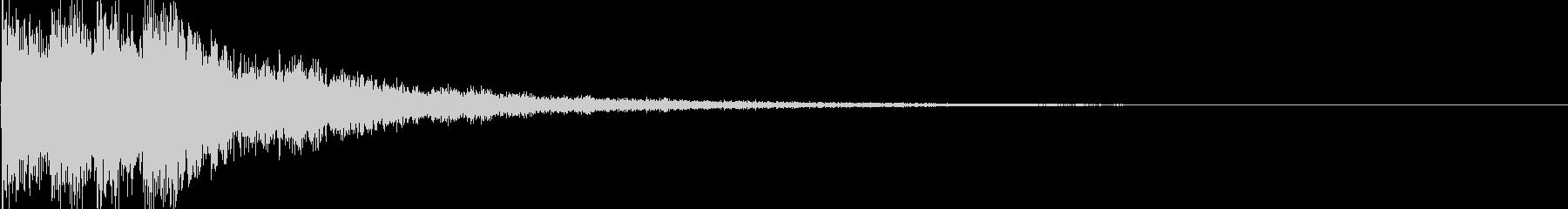 シンセ音(決定音、アプリ、ゲームなどに)の未再生の波形