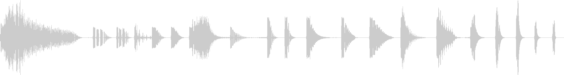 トーンベース遅延時間の変更の未再生の波形