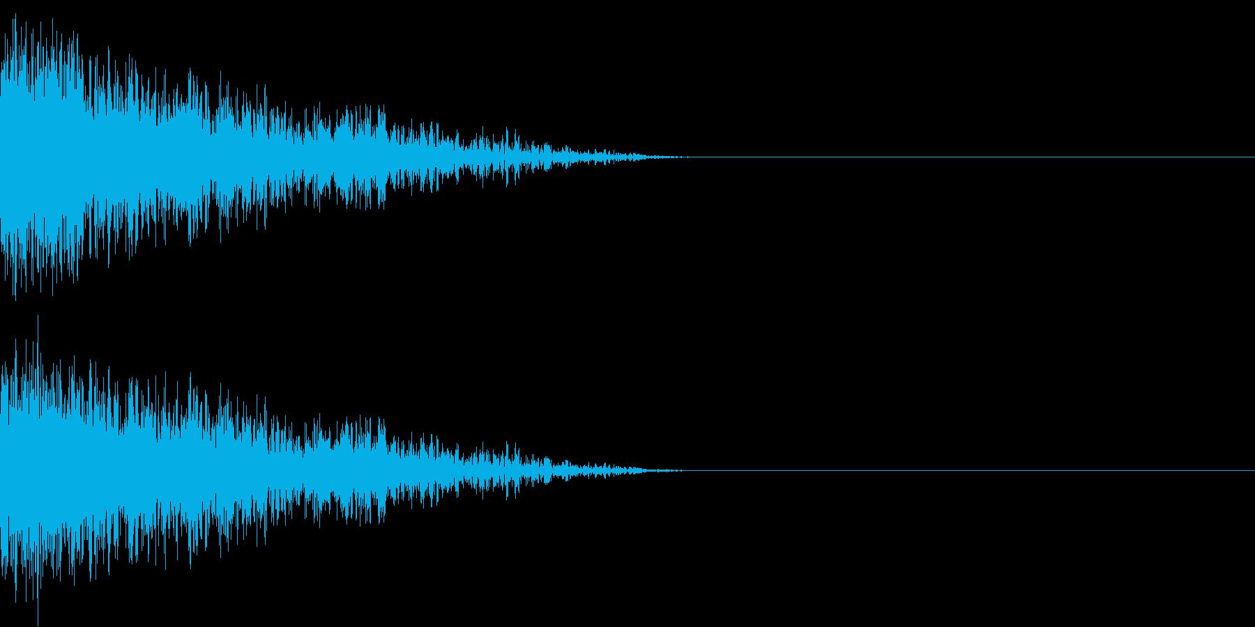 衝撃 金属音 恐怖 震撼 ホラー 32の再生済みの波形