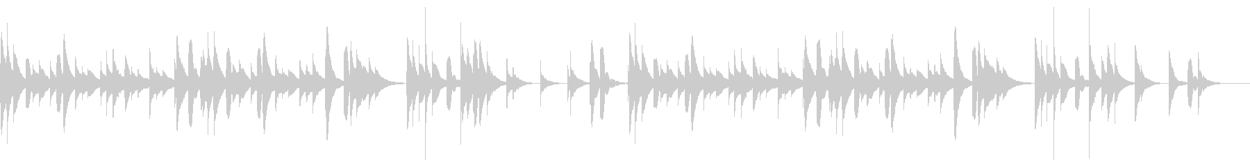 ちょっぴり切なく癒されるオルゴールBGMの未再生の波形