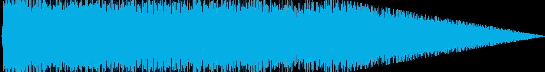 力強く明るいロックサウンドのジングルの再生済みの波形