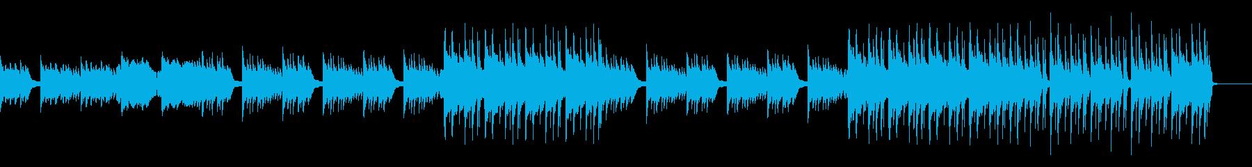 桜イメージの和風BGMの再生済みの波形
