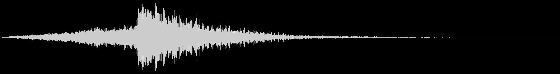 タイトルコールに使える派手なオケヒの未再生の波形
