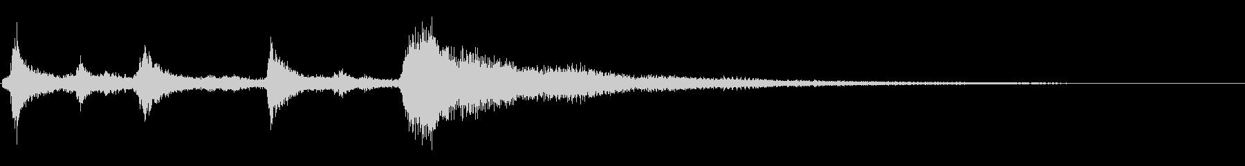 クリスマスのベル、鈴の効果音 ロゴ09の未再生の波形