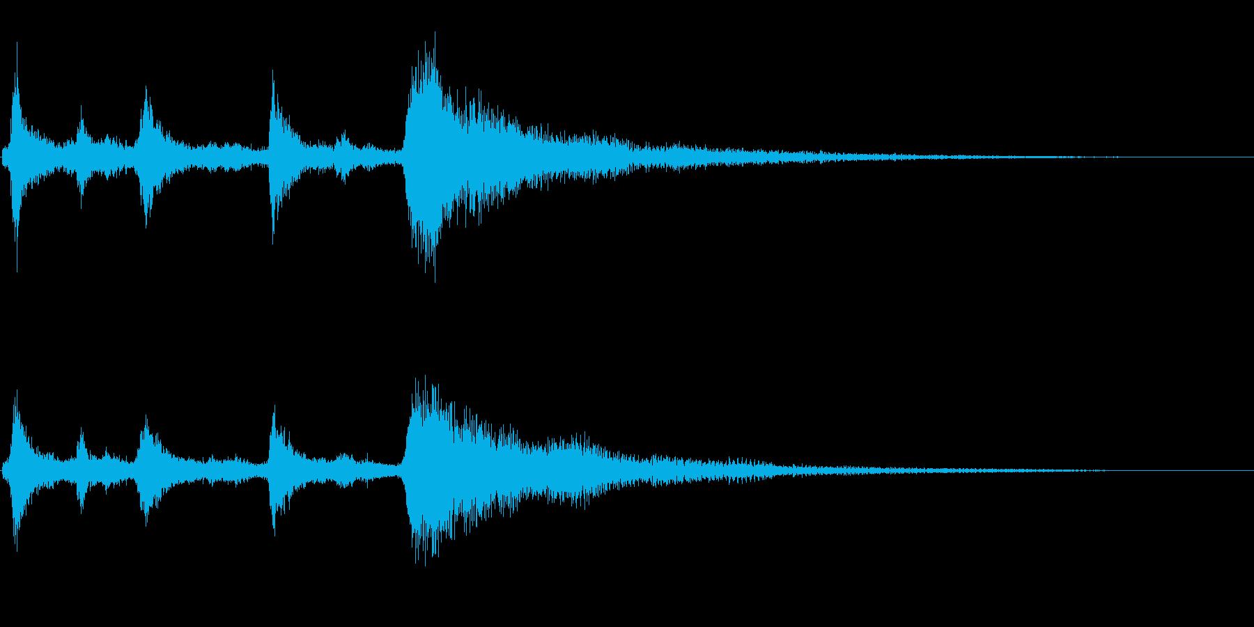 クリスマスのベル、鈴の効果音 ロゴ09の再生済みの波形