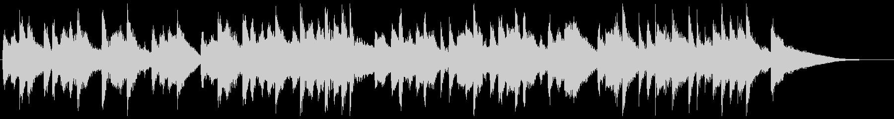 軽快なマリンバが楽しい15秒楽曲の未再生の波形