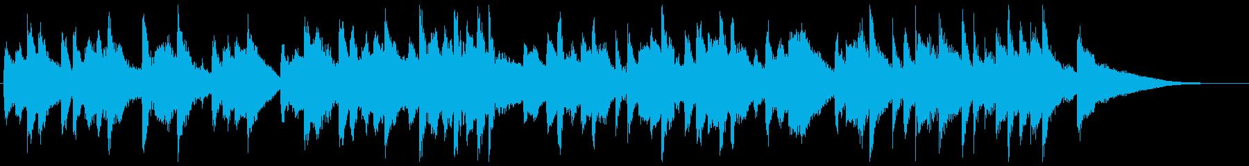 軽快なマリンバが楽しい15秒楽曲の再生済みの波形