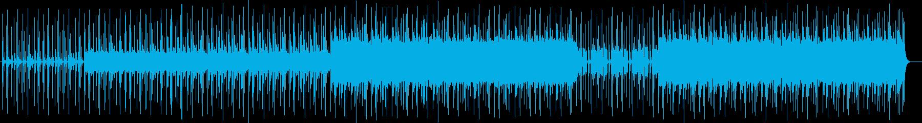 シリアスなシンセサイザーなどのサウンドの再生済みの波形