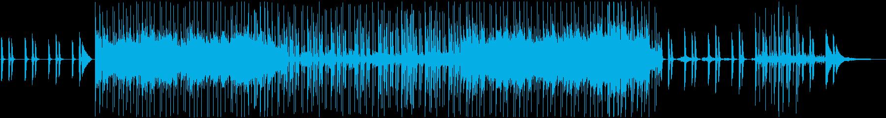 ピアノとエレキギターの爽やかなBGMの再生済みの波形