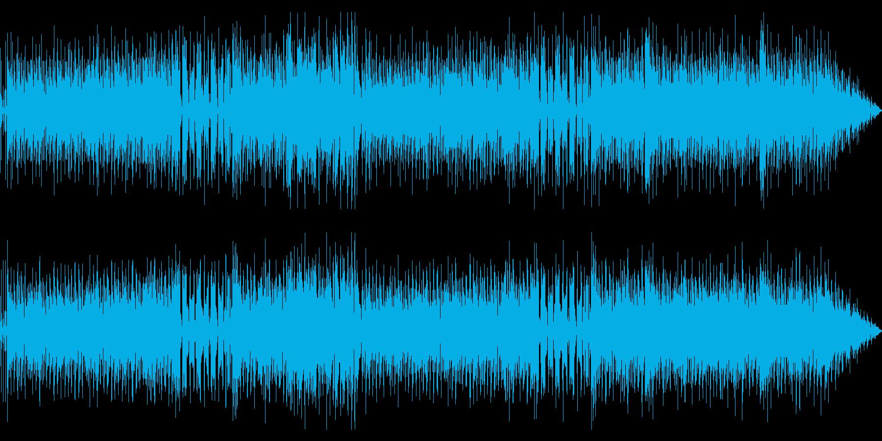 ハッピーな気分になるインスト曲の再生済みの波形