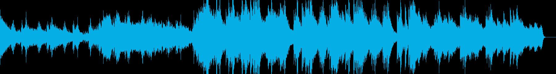物悲しげなピアノのシネマティックの再生済みの波形