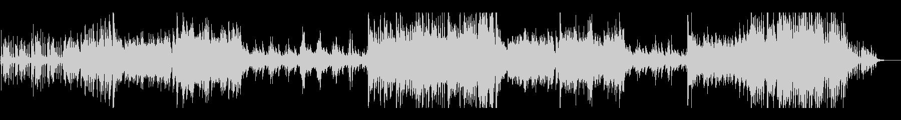 ピアノと和太鼓の華やかな現代和風BGMの未再生の波形