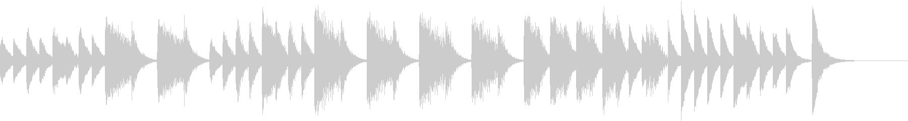 ゲロゲロ♪のんきなカエルのピアノジングルの未再生の波形