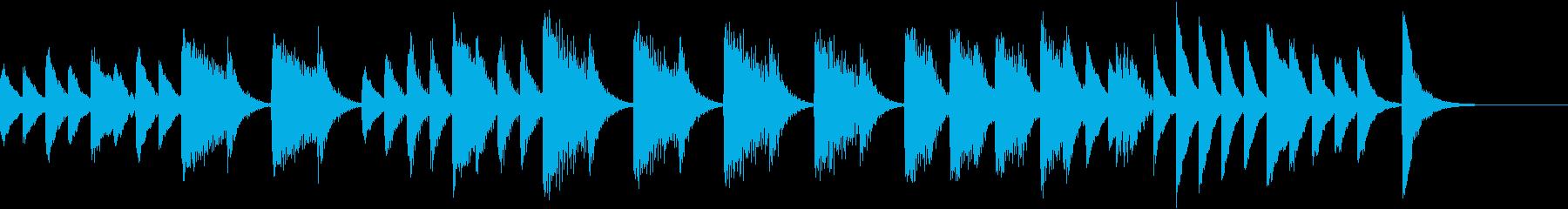 ゲロゲロ♪のんきなカエルのピアノジングルの再生済みの波形