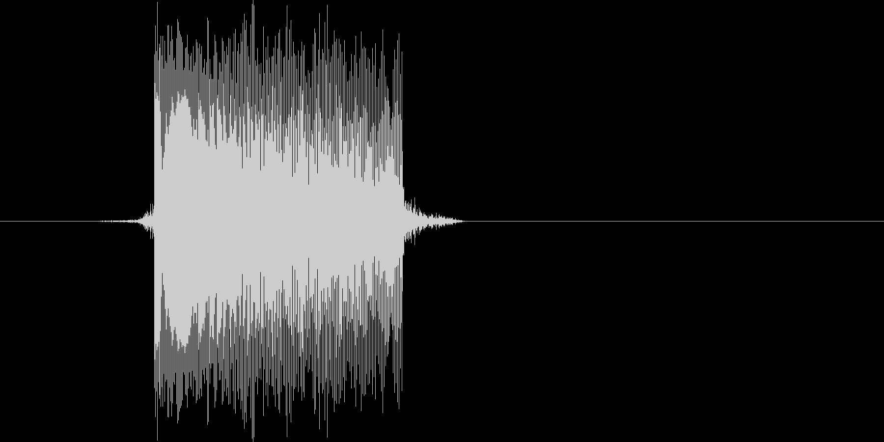 ゲーム(ファミコン風)レーザー音_014の未再生の波形