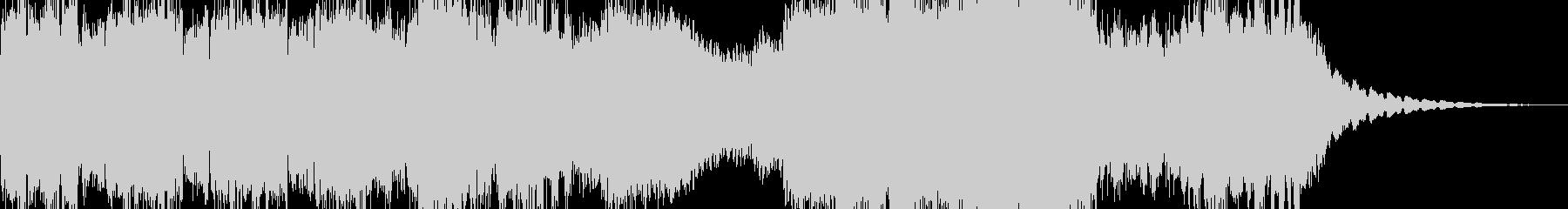 機械的をイメージしたノイズ中心の楽曲の未再生の波形