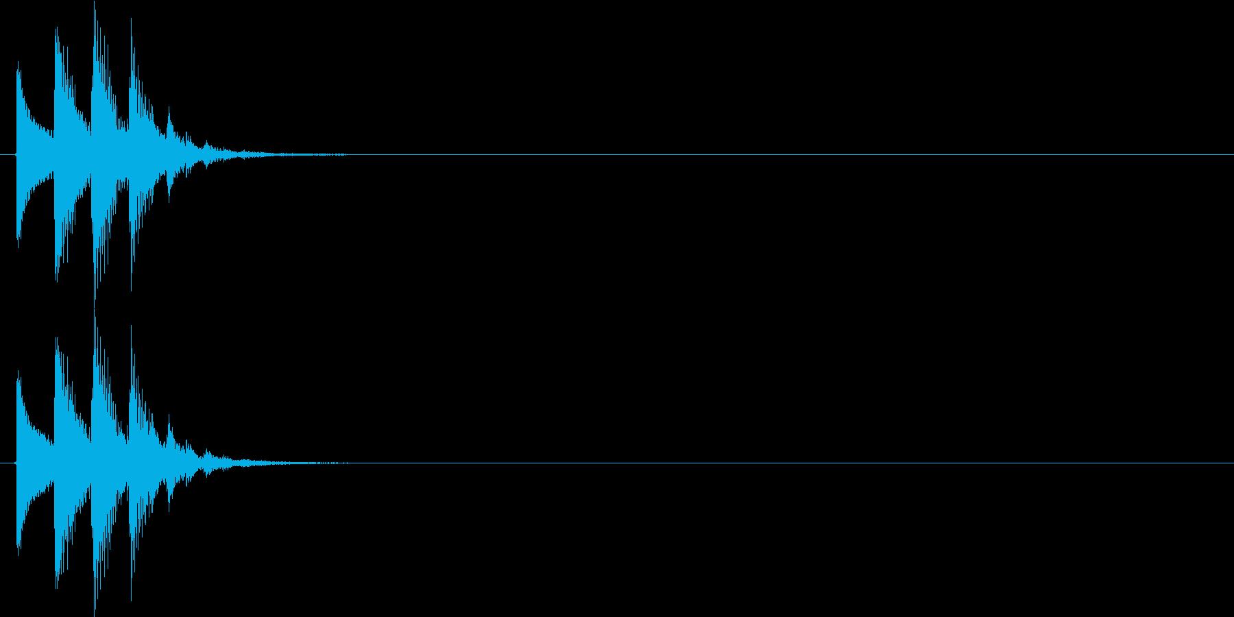 ピコッ(決定音、スタート音、起動音)の再生済みの波形