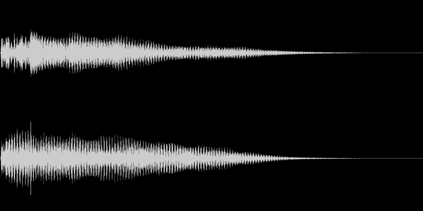 ハープによるスタートアップ音 通知音の未再生の波形