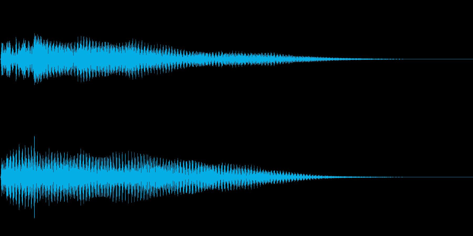 ハープによるスタートアップ音 通知音の再生済みの波形