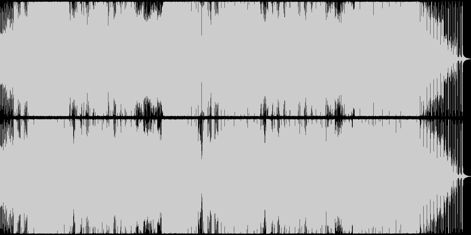 パワフルかつ幻想的なEDMの未再生の波形