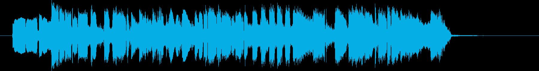 生エレキギター、調子いいブルースジングルの再生済みの波形