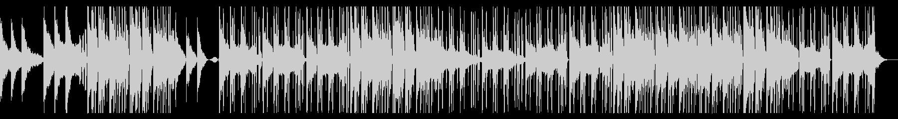 洋楽風のダークなピアノ主体ポップスの未再生の波形