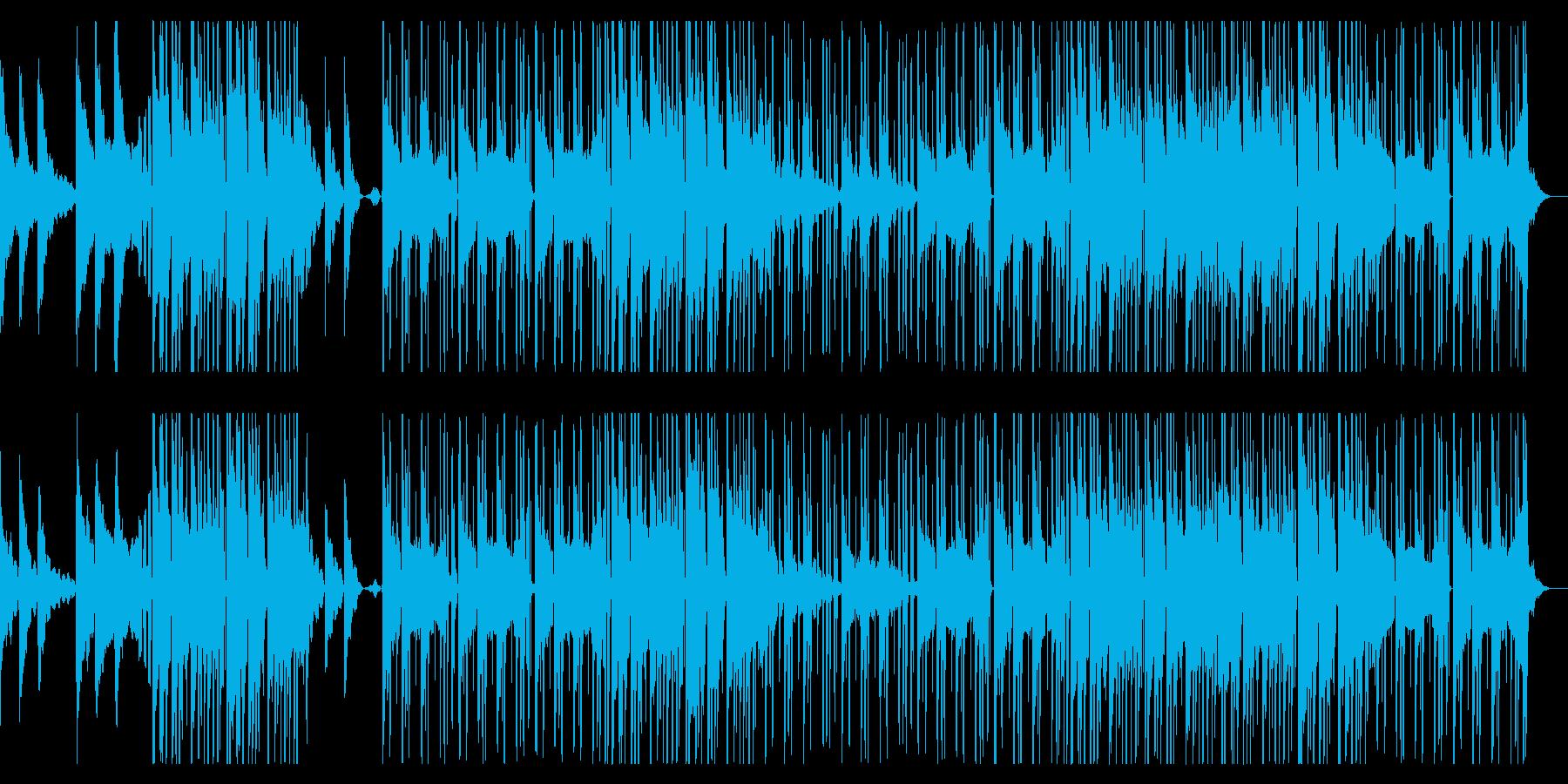 洋楽風のダークなピアノ主体ポップスの再生済みの波形