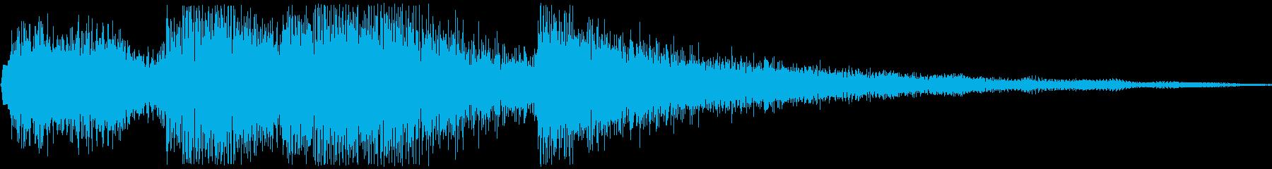 キラリン(アイテム獲得音)の再生済みの波形