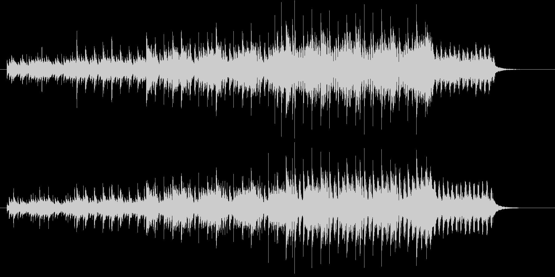 クールなテクノポップスのジングルの未再生の波形