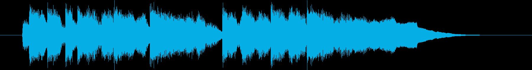 明るい短めのスローテンポの曲の再生済みの波形
