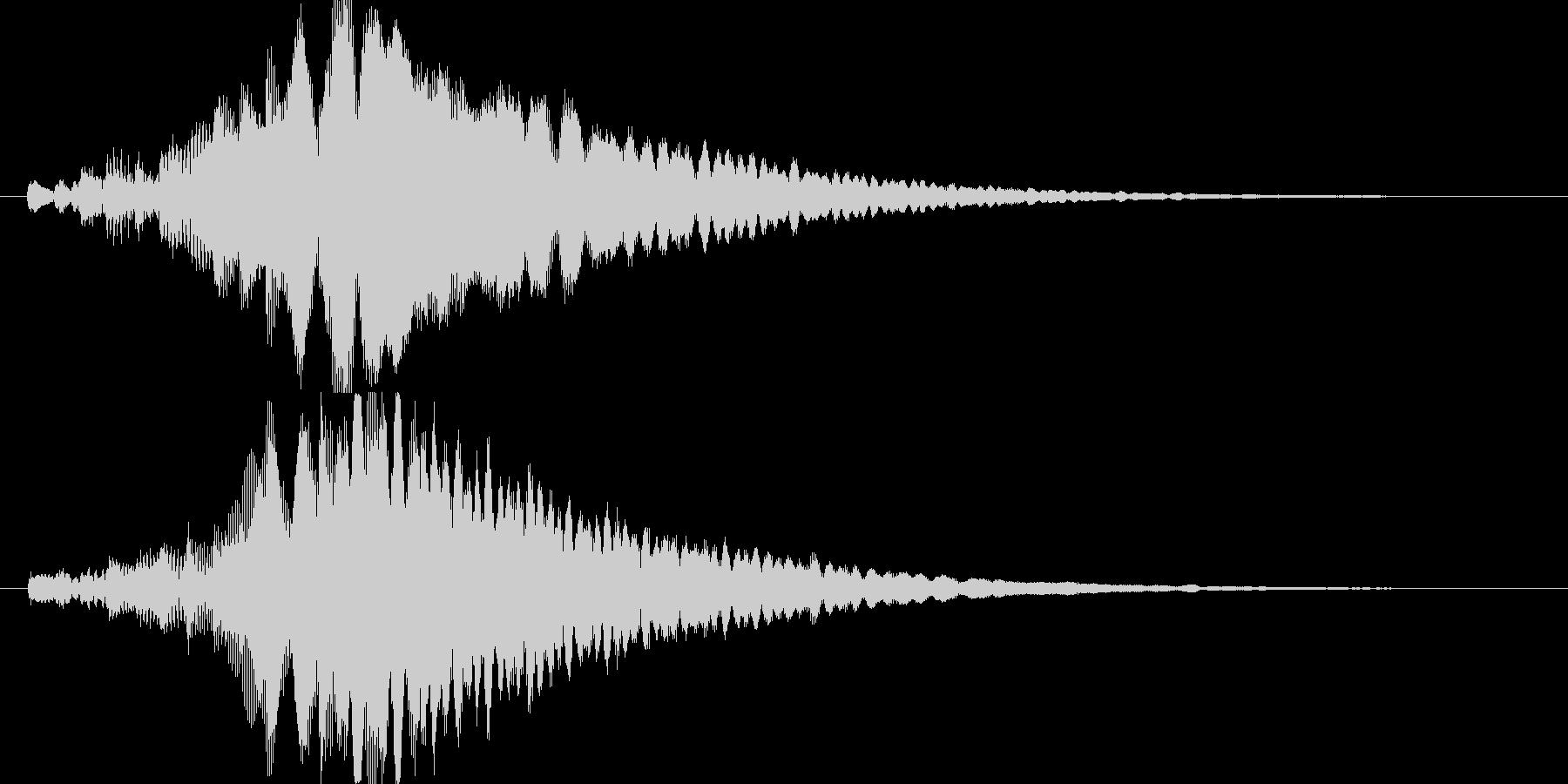 シンプルでキレイめなアイキャッチ2の未再生の波形