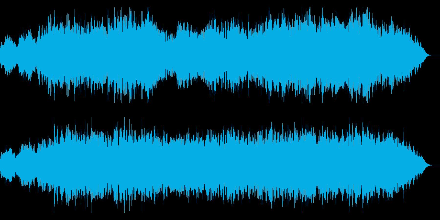 力強くて感動的なメロディーの再生済みの波形