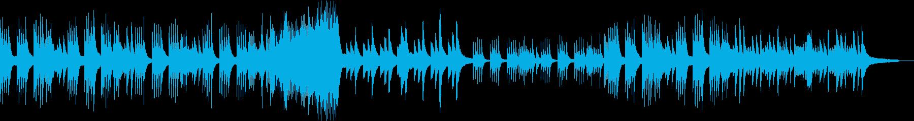 勿忘草をイメージしたピアノ音楽の再生済みの波形