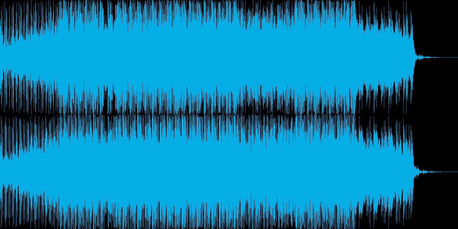 近未来感のあるBGM、エレクトロニカの再生済みの波形