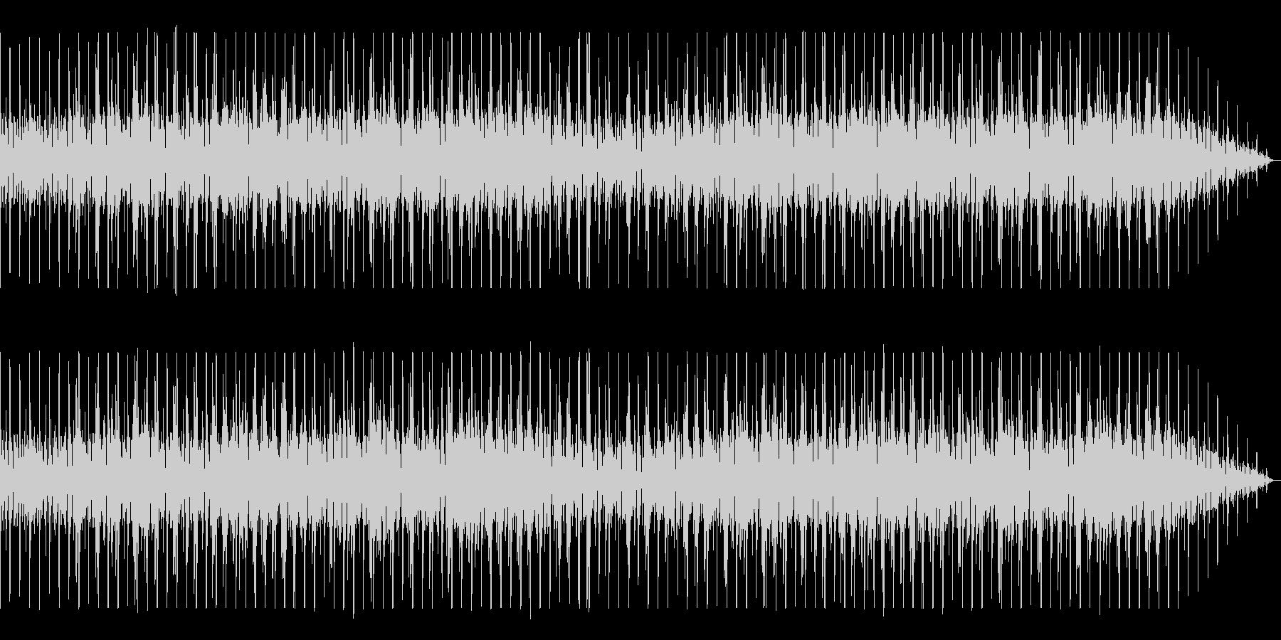 シンプルなボサノヴァ曲の未再生の波形