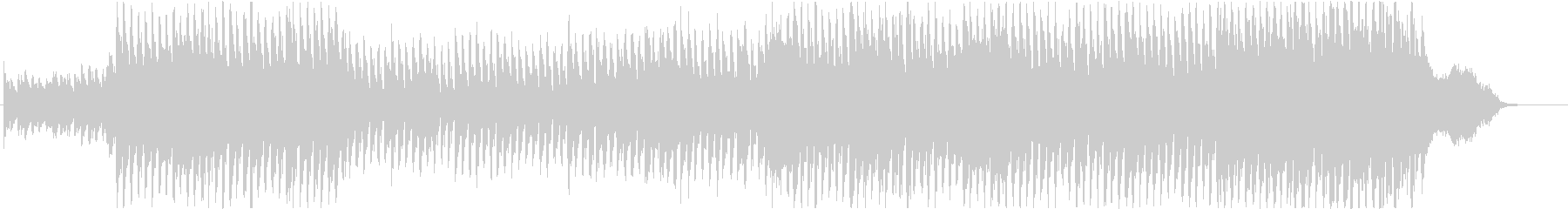爽やかなベルとオーケストラBGM仕様の未再生の波形