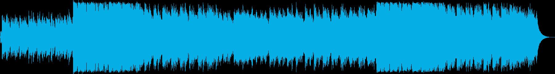 グリーンスリーブス様ノスタルジックな曲の再生済みの波形