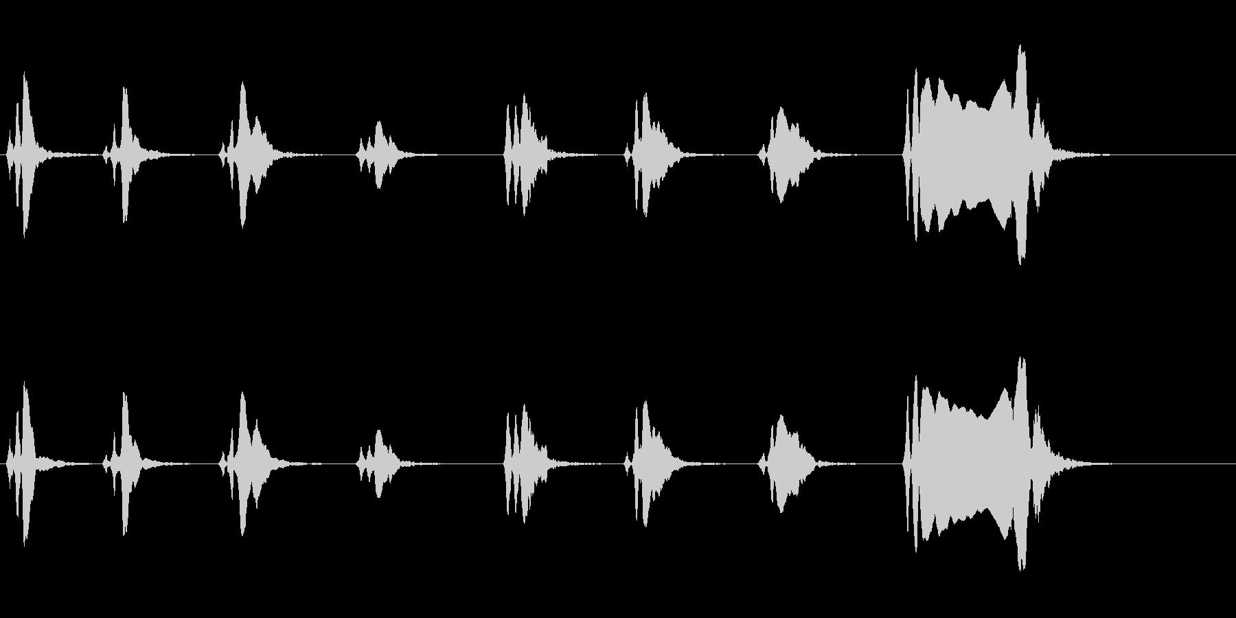 尺八 生演奏 古典風 残響音有 8の未再生の波形