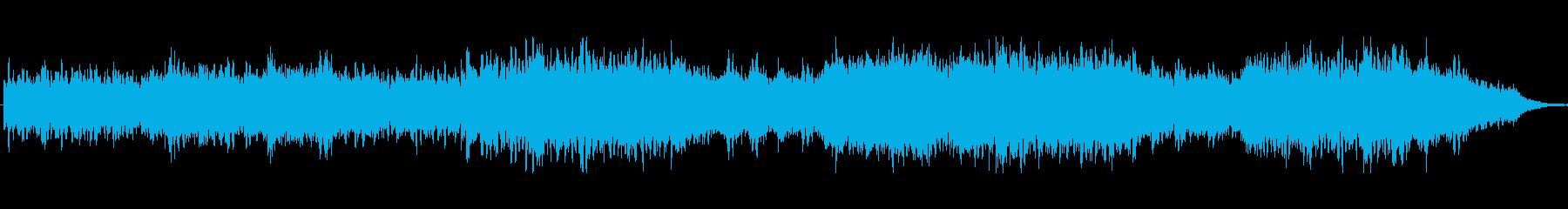 シンセが感傷的なアンビエントな楽曲の再生済みの波形